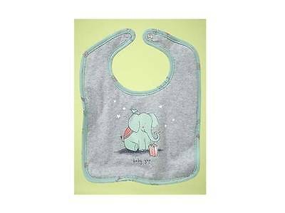 Nwt Cute Baby Gap Circus Bib Adorable Elephant Twins Cute Baby Boy Or Girl Gift!