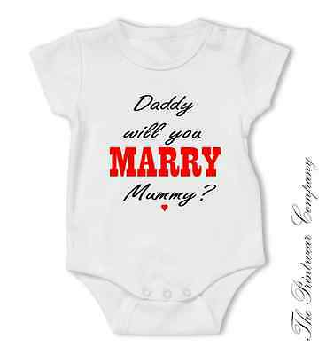 Baby Bodysuit Funny Will You Marry My Daddy Toddler Grow Newborn Gift 2Personal