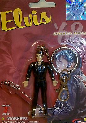Elvis 1968 Comeback Special - Collectible - Bendable Poseable Figure Keychain