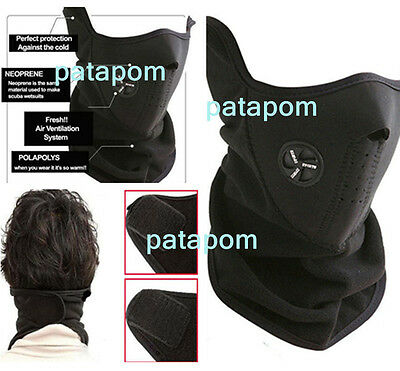WindProof Black Bike Motorcycle Ski Snow Sport Neck Winter Warm Warmer Face Mask