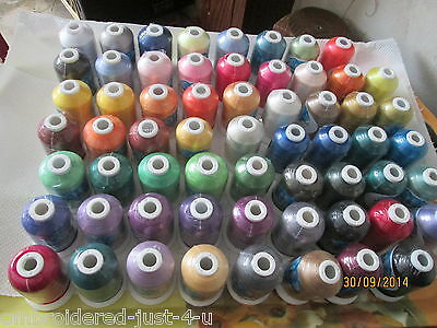 63x1000M REELS POLYESTER MACHINE EMBROIDERY THREADS  #CERTIFIED TO EN71-3 TOYS#