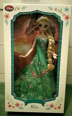 "Disney Elsa Limited Edition 17"" Doll 1 of 5000 Frozen Fever"