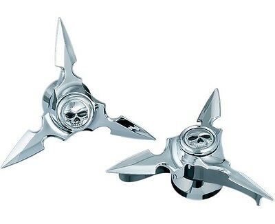 Kuryakyn Zombie Spin Blades Front Axle Nut Covers for Harley 84-99 FLH FLT 1235