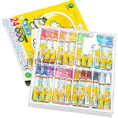 24 Colors Oil pastel set  (Free shipping on orders over C $15.00)