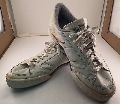 """Vintage 1986 Tennis Shoes Jimmy Connors """"Commodore"""" Converses Size 8 Leather"""