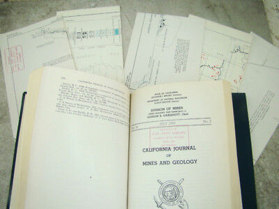 California Journal of Mines and Geology, Hardback, Maps Standard Oil Co. Book