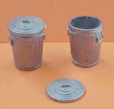 S/Sn3 1/64 WISEMAN MODEL SERVICES DETAIL PARTS S304 TRASH CANS WITH LIDS