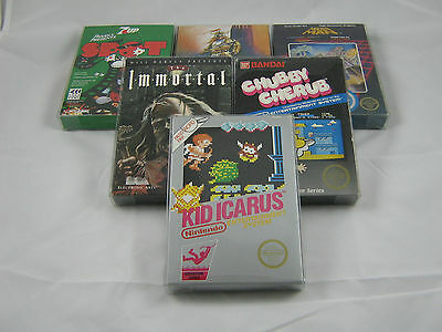 25 NES Box Protectors Clear Plastic Boxes Case for CIB Complete Sealed Protector