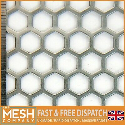 11mm Hole x 14mm Pitch x 1.5mm Thick Hexagonal Mild Steel Perforated Mesh Sheet
