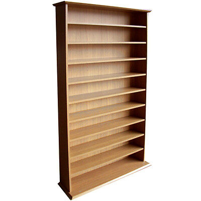 Large CD DVD Media Storage Shelves - OAK -  MS0765M