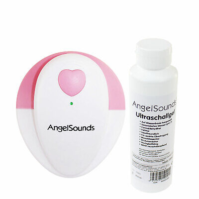 ANGELSOUNDS Set JPD-100S Fetaldoppler inkl. Ultraschallgel (250ml Flasche)