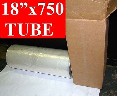 "18"" x 750' long POLY TUBING Roll 2mil Tube 3"" Core"