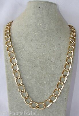 collana Catena oro 85 cm uomo,donna Rapper girocollo,chain necklace Multifilo