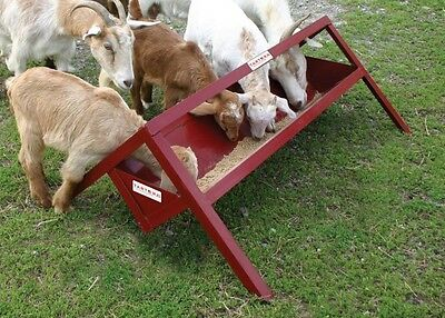 Tarter 8'  Red Powder Coated Trough Feeder TF8-Perfect for Goats/Small Animals
