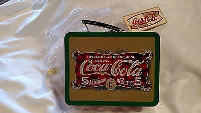 NEW Coca Cola Metal Lunch Box Delicious & Refreshing 6 x 7 3/4 x 3 L@@K