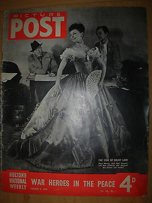 VINTAGE PICTURE POST MAGAZINE JANUARY 4th 1947 WAR HEROES  IN THE PEACE