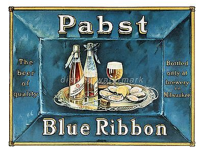 "Pabst Blue Ribbon Beer sign 11"" x 14"""
