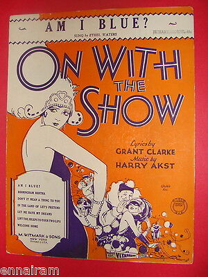 Am I Blue from On With the Show 1929 Clarke & Akst sung by Ethel Waters