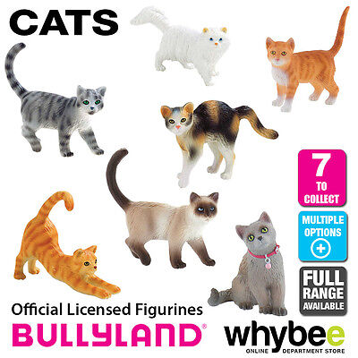 Genuine Bullyland Cats Collection Plastic Figurines Figures Full Range Available