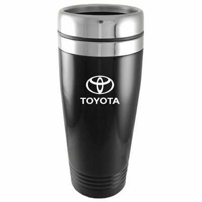 Toyota Logo Black Insulated Double Wall Stainless Steel Travel Coffee Mug Etch