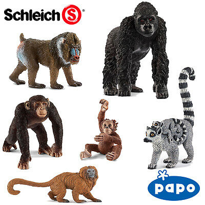 SCHLEICH / PAPO World of Nature PRIMATES Choose from 15 different Apes with Tags