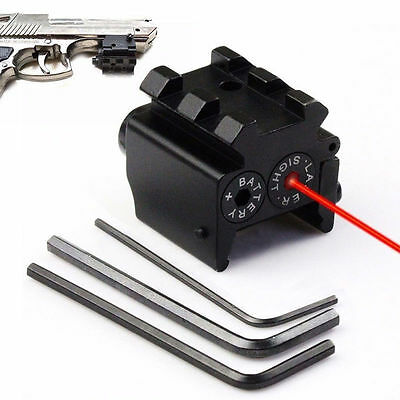 Tactical Red Laser Compact Pistol Low Profile Rifle Dot Sight Scope with Mounts