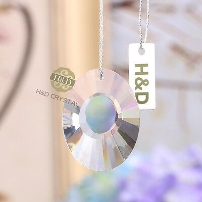 5pcs Chandelier Clear Crystal Suncatcher Lamp Prisms Hanging Drop Pendant 38mm