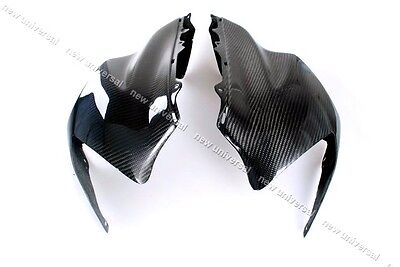 2004-2005 Kawasaki ZX10R Carbon Fiber Headlight Upper Front Head Fairing L & R
