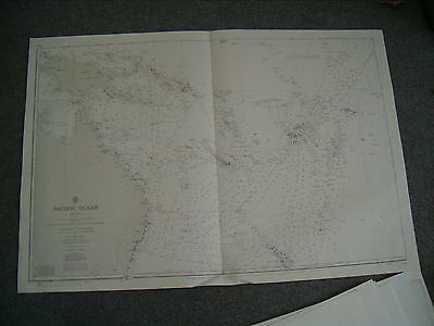 Vintage Admiralty Chart 780 PACIFIC OCEAN - SOUTH WEST SHEET 1982 edn