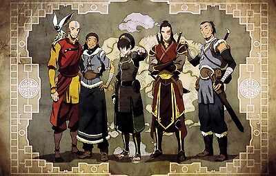 "Avatar The Last Airbender Animation Silk Cloth Poster 20 x13"" Decor 35"