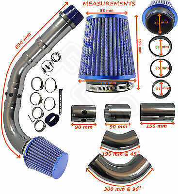 K&N TYPE UNIVERSAL PERFORMANCE COLD AIR FEED INDUCTION INTAKE KIT – Mercedes 1