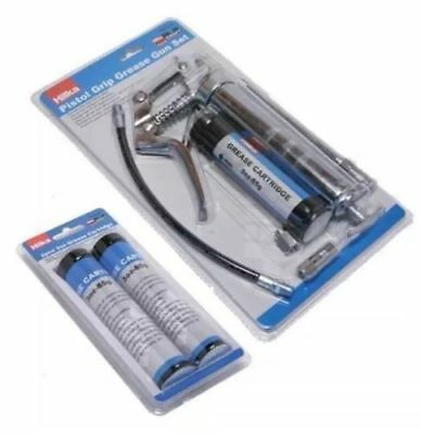 Pistol Grip Manual Grease Gun Set With Grease Cartridge With 3 Catridges