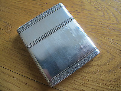 Rare Sliding/hinged Design Hm Solid Silver Cheroot/cigarette/card Case - 1925
