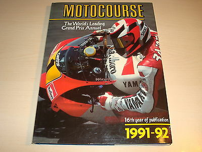 MOTOCOURSE 1991/92 16th YEAR OF PUBLICATION HARDBACK EXCELLENT