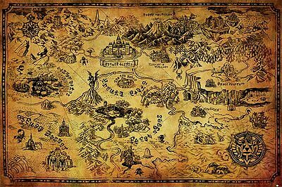 The Legend Of Zelda (Hyrule Map) - Maxi Poster 61cm x 91.5cm - PP33716 - 363