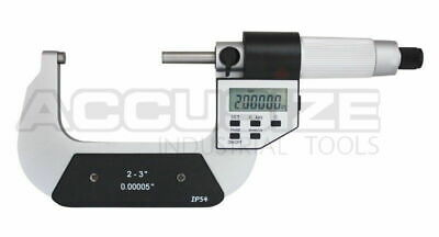 """2-3"""" x 0.00005"""" Digital Outside Micrometer, 5 key in fitted box,  #AC20-3022"""