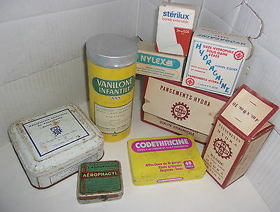 Lot Boites Vintage Special Pharmacie - Medical