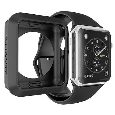LUVVITT ULTRA ARMOR High Performance Flexible Apple Watch Case 42mm - Black