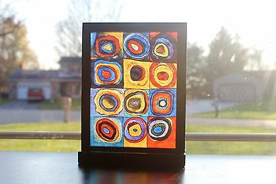 """Farbstudie Quadrate"" Stained Glass Art"