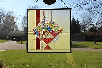 """""""May Basket"""" Stained Glass Art"""