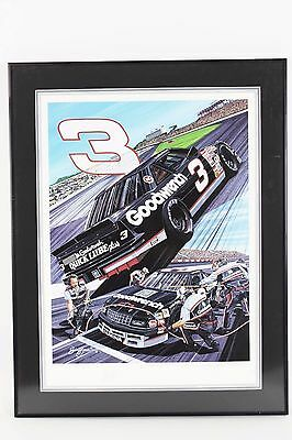 """NASCAR Dale Earnhardt Sr. Limited Edition """"3 to Get Ready...""""  Signed Print"""