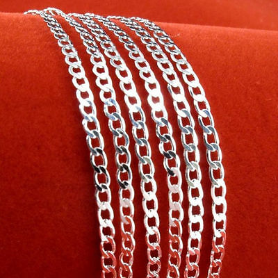 Silver Plated Lots 1//5/10pcs 2mm Flat Snake Chain Necklace 16-24''