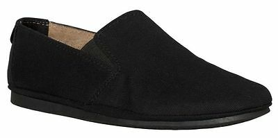 Windsor Smith Rip Black Canvas Shoes Leather Sock Slip On Casual Dress Men's