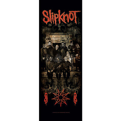 "SLIPKNOT Crest DOOR Tapestry Cloth Poster Flag Wall Banner 21"" x 58"""