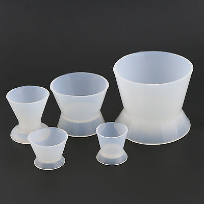 5 Pcs Dental Lab Mixing Silicone Bowl Cup used for mixing acrylics 1 Set