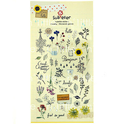 The Secret Garden Style Transparent Diary Deco Stickers Labels Scrapbook Journal