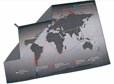 Lifeventure Soft-Fibre Map Series Printed Handtuch 150 cm x 100 cm