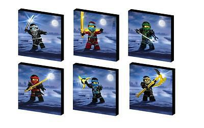 NINJAGO characters SET b CANVAS ART BLOCKS/ WALL ART PLAQUES lego YOU CHOOSE 3