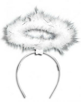 Fluffy Ladies Halo Angel Head Band Hen Night Party Fairy Christmas Fancy Dress