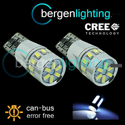2X W5W T10 501 Canbus Error Free White 18 Smd Led Sidelight Bulbs Sl103103